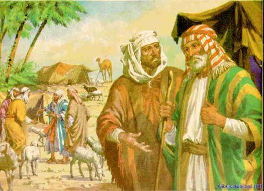 abraham y lot se separan