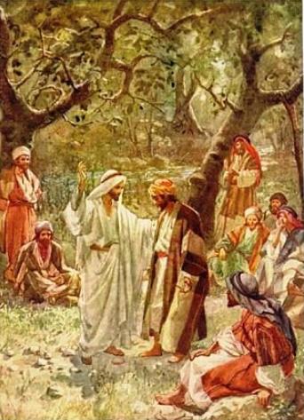 Hablando con los discípulos
