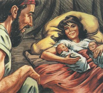 jacob-and-esau-born-to-isaac-and-rebekkah