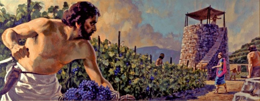 In Jesus' parable; wicked vineyard tenants stole crops, murdered