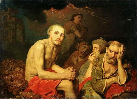 vladimir-borovikovsky-job-and-his-friends-1810s
