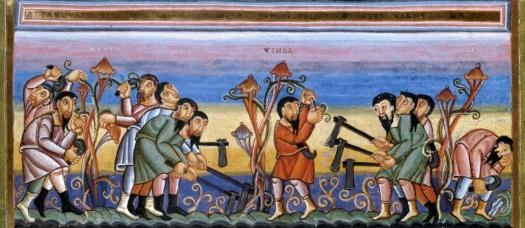 Vineyard_Owner_and_Laborers_Parable_-_Codex_Aureus_Epternacensis_f76f_Detail