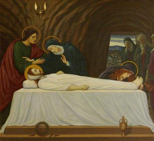 Jesus-is-Laid-in-the-Tomb-Edward-Arthur-Fellowes-Prynne-oil-painting