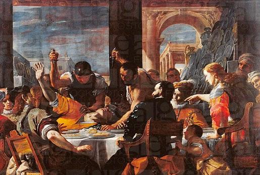 Absalom UIG-911-06-299368 Banquet of Absalom Mattia Preti