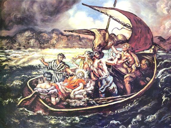 Jesus-sleeping-in-boat-during-storm
