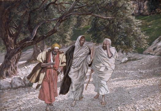 the-disciples-on-the-road-to-emmaus-tissot