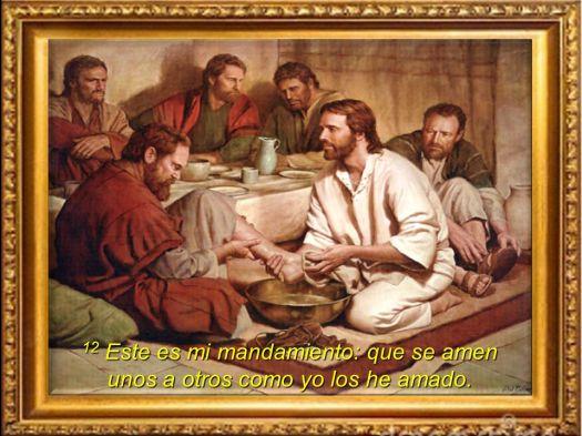 12 Este es mi mandamiento: que se amen unos a otros como yo los he amado.