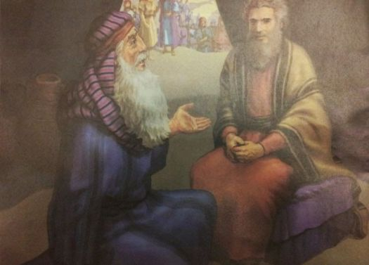 Moses and Jethro meet