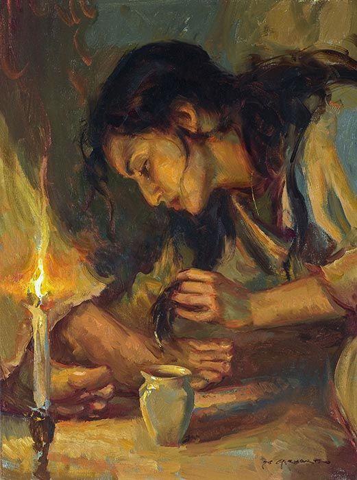 anointing jesus' feet
