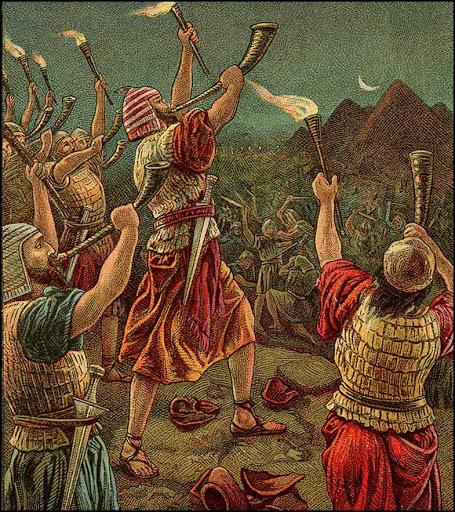 Gideon fights Midian