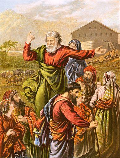 Noah preparing to enter the Ark